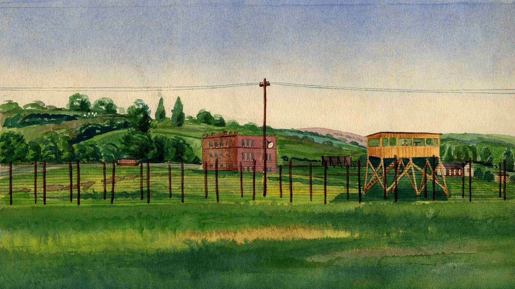 View of Fort Oglethorpe, GA, watercolor, 1918-1920